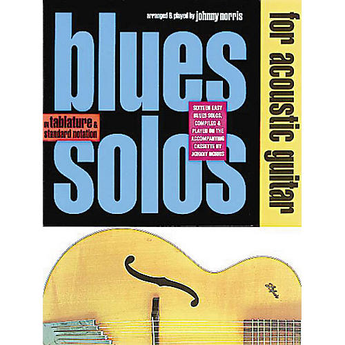 Music Sales Blues Solos for Acoustic Guitar Music Sales America Series Softcover with CD Written by Johnny Norris