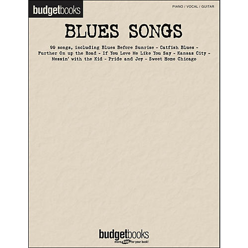 Hal Leonard Blues Songs Budget Books arranged for piano, vocal, and guitar (P/V/G)-thumbnail