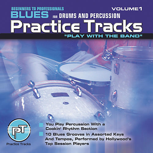 Practice Tracks Blues for All Drums Percussion (CD)-thumbnail