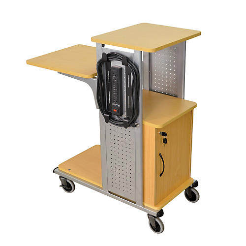 H. Wilson Boardroom Presentation Station with Locking Cabinet-thumbnail