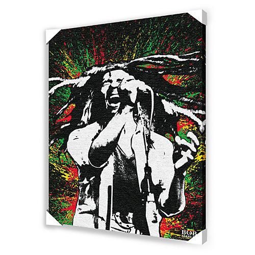 Ace Framing Bob Marley Paint Splash Framed Artwork-thumbnail