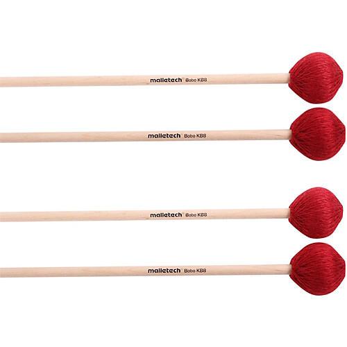 Malletech Bobo Marimba Mallets Set of 4 (2 Matched Pairs)