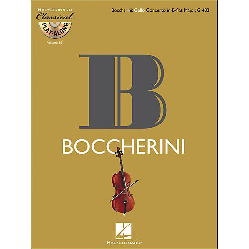 Hal Leonard Boccherini: Cello Concerto Inb-Flat Major, G 482 Classicalplay-Along 9Book/CD) Vol.16-thumbnail