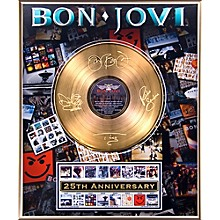 24 Kt. Gold Records Bon Jovi - 25th Anniversary Gold LP Limited Edition of 5000