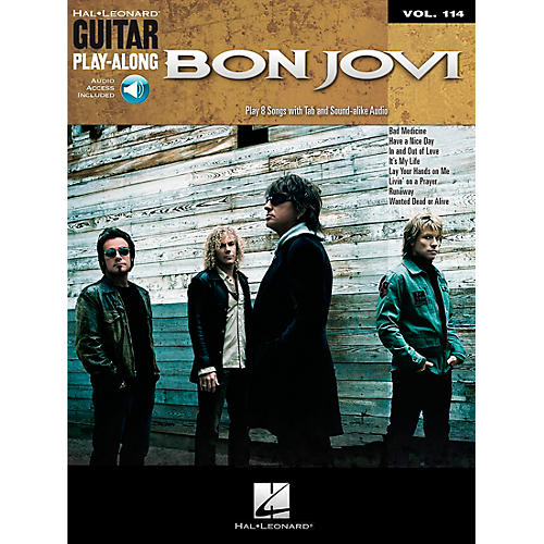 Hal Leonard Bon Jovi - Guitar Play-Along Volume 114 (Book/CD)-thumbnail