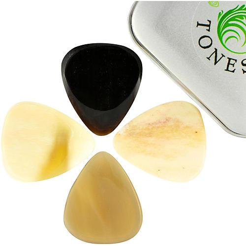Timber Tones Bone Tones Mixed Tin of 4 Guitar Picks