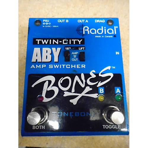 Radial Engineering Bones Twin City ABY Bypass Pedal-thumbnail