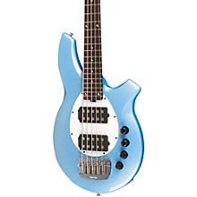 Bongo 5-String Bass with 2 Humbucker Pickups Sky Blue White Pickguard