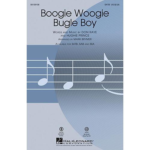Hal Leonard Boogie Woogie Bugle Boy SATB by Bette Midler arranged by Mark Brymer
