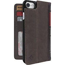 Twelve South BookBook Carrying Case (Book Fold) for iPhone 7 - Brown - Dust Resistant Interior, Dirt Resistant Interior - Genuine Leather