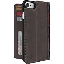 Twelve South BookBook Carrying Case (Book Fold) for iPhone 7 Plus - Brown - Dust Resistant Interior, Dirt Resistant Interior - Genuine Leather