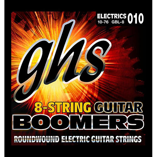 GHS Boomer 8 String Light Electric Guitar Set (10-76)-thumbnail