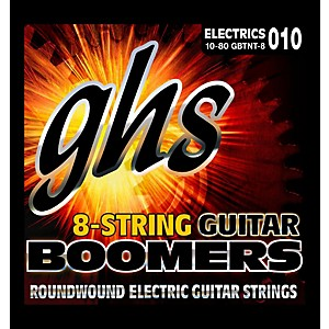 GHS Boomer 8 String Thick/Thin Electric Guitar Set 10-80 by GHS