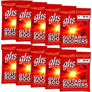 GHS Boomers Extra Light Electric Guitar Strings 10 Pack