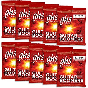 GHS Boomers Light Roundwound Electric Guitar Strings 10 Pack