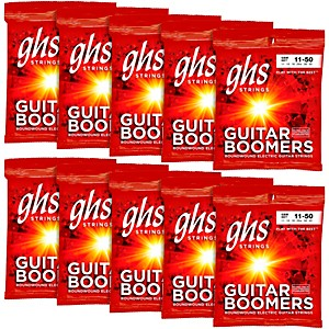 GHS Boomers Medium Electric Guitar Strings 10 Pack