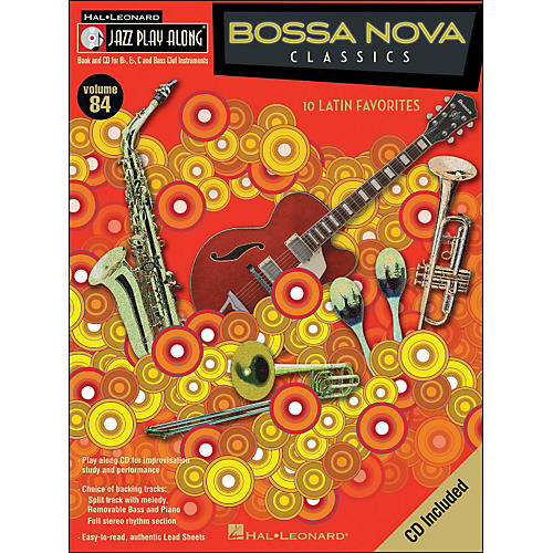 Hal Leonard Bossa Nova Classics Jazz Play-Along Volume 84 Book/CD
