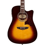 D'Angelico Bowery Dreadnought Cutaway Acoustic-Electric Guitar