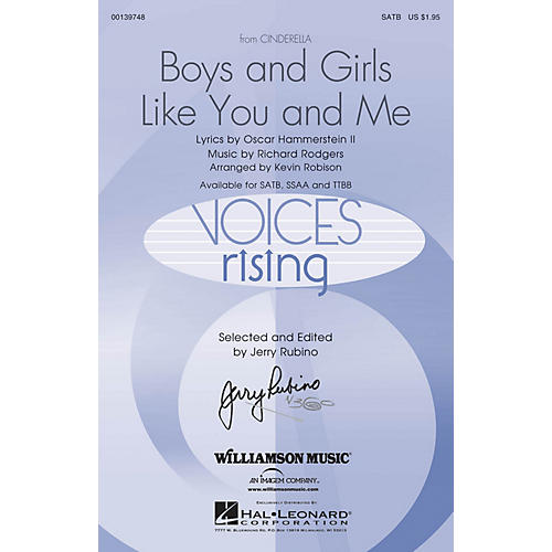 Hal Leonard Boys and Girls Like You and Me (from Cinderella) SATB arranged by Kevin Robison