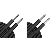 Musician's Gear Braided Instrument Cable Black 20 ft. - 2 Pack