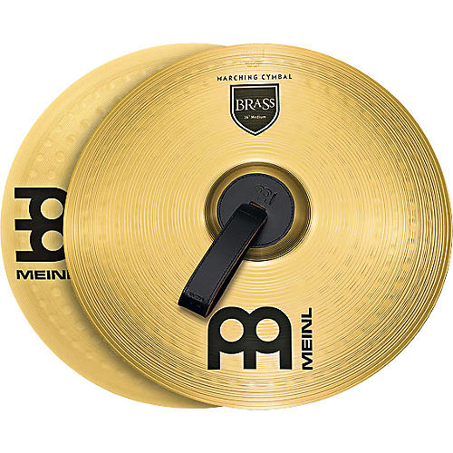 Meinl Brass Marching Medium Cymbal Pair-thumbnail
