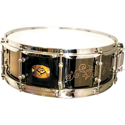 Eccentric Systems Design Brass Snare Drum Black Leaf 14x5