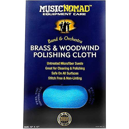 Music Nomad Brass & Woodwind Untreated Microfiber Polishing Cloth 12 x 12 in.