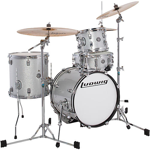 Ludwig Breakbeats by Questlove 4-Piece Shell Pack White Sparkle Chrome Hardware