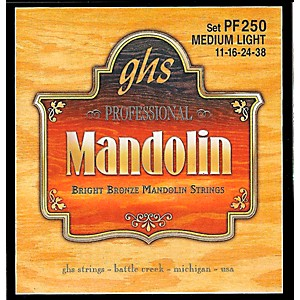 GHS Bright Bronze Mandolin Strings Medium Light by GHS
