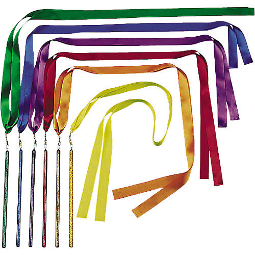 Kids Play Bright Color Ribbon Wands