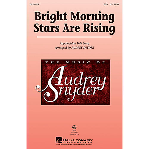 Hal Leonard Bright Morning Stars are Rising SSA arranged by Audrey Snyder