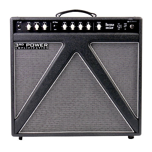 3rd Power Amps British Dream 30W 1x12 Tube Guitar Combo Amp with Alnico Gold Speaker Black