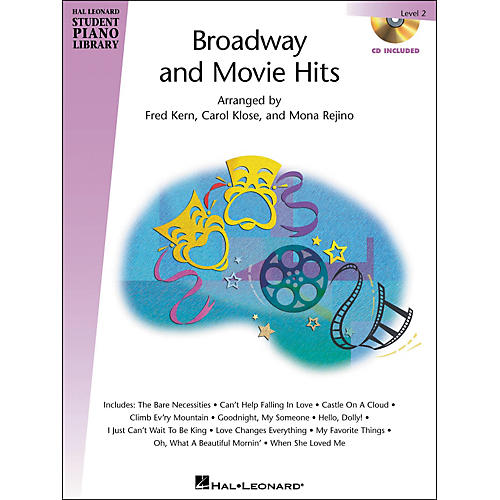 Hal Leonard Broadway And Movie Hits Level 2 Book/CD Hal Leonard Student Piano Library-thumbnail
