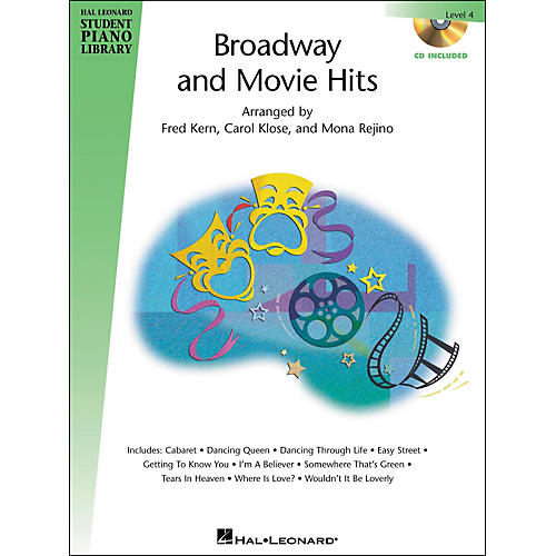 Hal Leonard Broadway And Movie Hits Level 4 Book/CD Hal Leonard Student Piano Library