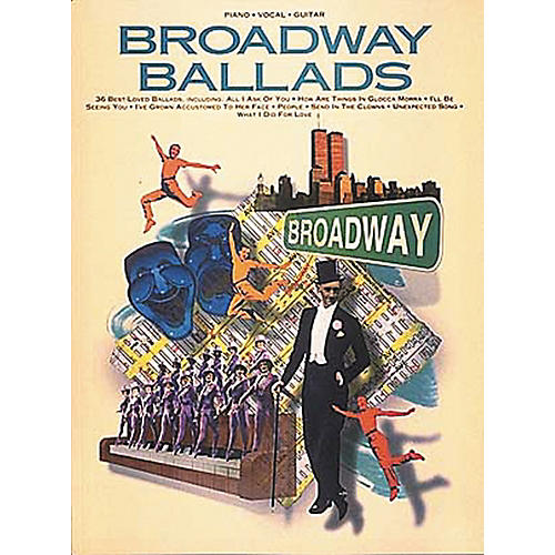 Hal Leonard Broadway Ballads Piano, Vocal, Guitar Songbook-thumbnail