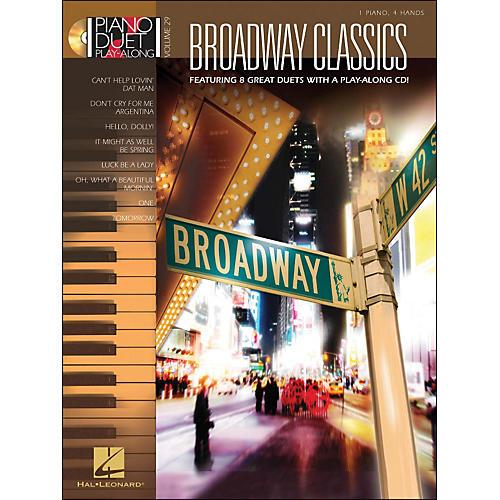Hal Leonard Broadway Classics Piano Duet Play-Along Volume 29 Book/CD