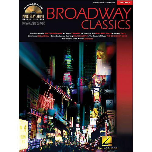 Hal Leonard Broadway Classics Piano Play-Along Volume 4 Book/CD arranged for piano, vocal, and guitar (P/V/G)