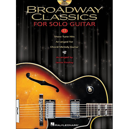 Hal Leonard Broadway Classics for Solo Jazz Guitar (Book/CD)-thumbnail