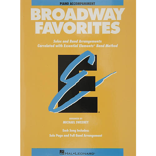 Hal Leonard Broadway Favorites Piano Accompaniment Essential Elements Band-thumbnail