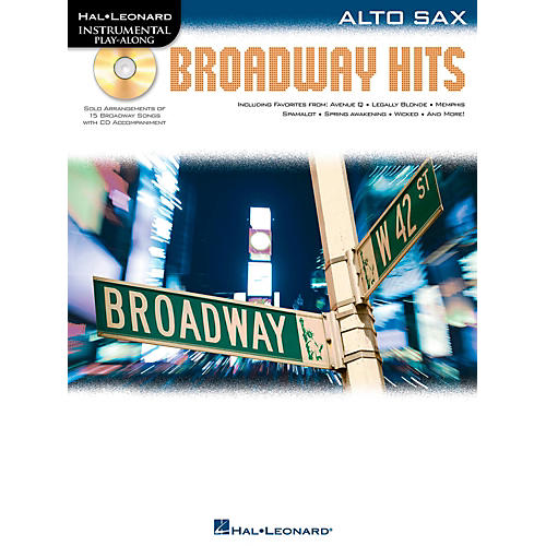 Hal Leonard Broadway Hits For Alto Sax - Instrumental Play-Along Book/CD-thumbnail