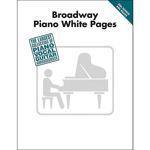 Hal Leonard Broadway Piano White Pages arranged for piano, vocal, and guitar (P/V/G)-thumbnail