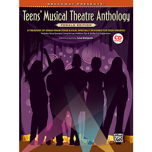Alfred Broadway Presents! Teens' Musical Theatre Anthology Female Edition Book & CD-thumbnail