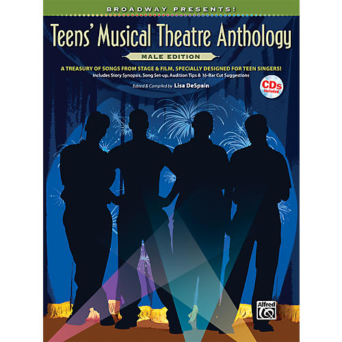 Alfred Broadway Presents! Teens' Musical Theatre Anthology Male Edition Book & CD
