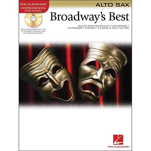 Hal Leonard Broadway's Best For Alto Sax Book/CD