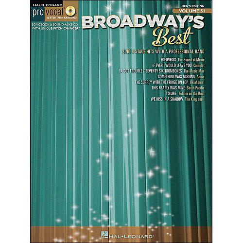 Hal Leonard Broadway's Best Pro Vocal Songbook & CD for Male Singers Volume 51