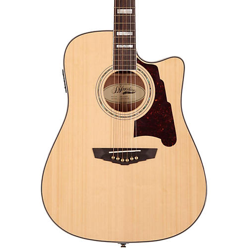 D'Angelico Brooklyn Dreadnought Cutaway Acoustic-Electric Guitar Natural