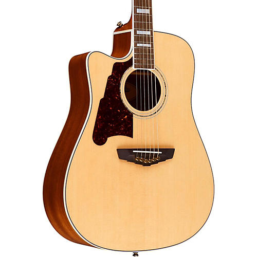 D'Angelico Brooklyn Dreadnought Left-Handed Cutaway Acoustic-Electric Guitar-thumbnail