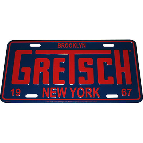 Gretsch Brooklyn NY License Plate