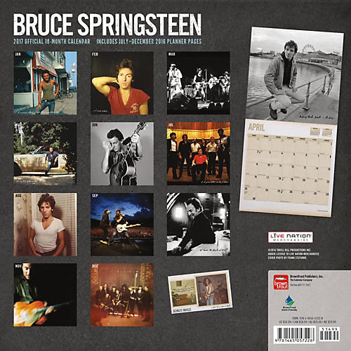 Browntrout Publishing Bruce Springsteen 2017 Live Nation Calendar-thumbnail