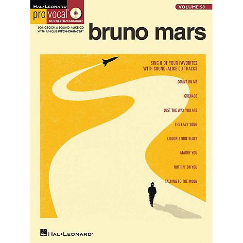Hal Leonard Bruno Mars - Pro Vocal Songbook & CD For Male Singers Volume 58-thumbnail